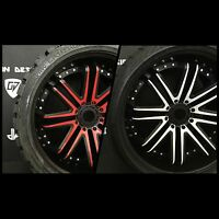 NEW Terrain Crusher Offroad Belted Monster  VINYL/DECAL WRAP (4) SETS WHEELS