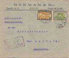 Estland: 1921: Einschreiben Reval nach Halle