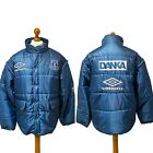 EVERTON 1995/97 Umbro Bench Coat Puffer (XL) Squad Issue 90s Football