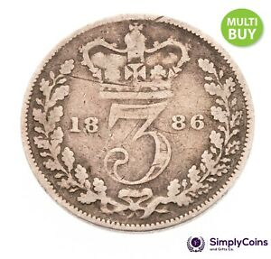 1840 TO 1901 VICTORIA SILVER THREE PENCE - CHOICE OF YEAR / DATE