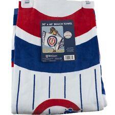 "Chicago Cubs 30"" x 60"" Beach Bath Pool Towel MLB Blue Red"