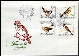 1927 - Yugoslavia 1982 - Fauna – Birds - FDC - Postmark ZAGREB