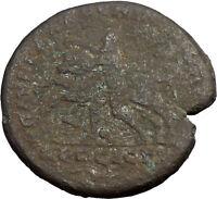 SEPTIMIUS SEVERUS Labor of Hercules Cretan Bull RARE Ancient Roman Coin  i31032