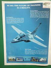 5/2005 PUB AVION AERMACCHI M-346 JET TRAINER AERONAUTICA MILITARE ORIGINAL AD