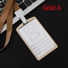Cubierta De Aluminio Correa para el cuello ID Badge Titular de la tarjeta de trabajo con nombre de empresa