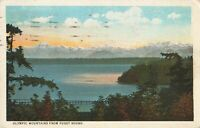 Postcard Olympic Mountains from Puget Sound Washington