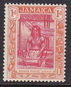*JAMAICA 1919-21 SG79 1d CARMINE & ORANGE MNH