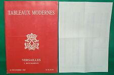 catalogue vente enchères VERSAILLES Tableaux modernes + liste prix de vente (5)