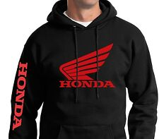 Hooded Sweatshirt FX Honda Tracker Jacket Hoodie Zip-up Sweater Black Red