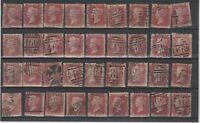 FRANCOBOLLI - 1864 GRAN BRETAGNA p.1 ROSSO CARMINIO CON NUMERO TAVOLA E/6178