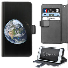Planet Earth Phone Case, PU Leather Wallet Flip Case, Cover For Samsung, Apple