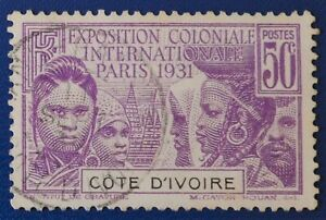 Ivory Coast - 1931 50 c International Colonial Exhibition, Paris 1931 used (2) -