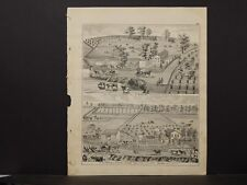 Ohio Hancock County Map 1875, S Shafer Mt Blanchard, William Thomas Marion J2#63