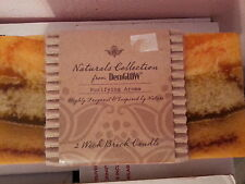 Mothers Day 2 Wick Brick Candle DecoGlow Naturals Collection Purifying Aroma New