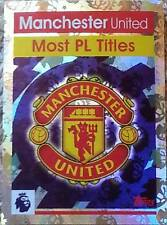 184 MANCHESTER UNITED Most Titles 2016/2017 Topps Merlin Premier League sticker