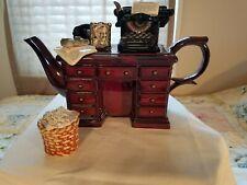 Paul Cardew Large Teapot Crimewriters Desk with waste basket