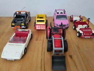 Playmobil Fahrzeuge Konvolut Geländewagen Autos Traktor Ersatzteile 6x