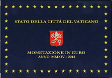 Vatikan Euro-KMS 2014 Polierte Platte - PP mit 20 Euro Silber