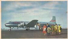 Vintage Postcard-United's giant DC-6 Mainliner 300's, carring 52 passengers