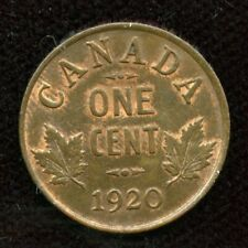 1920 Canada Small One Cent - Unc - Trace Red