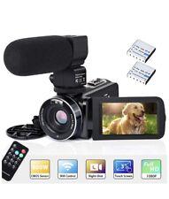 Videokamera Camcorder WiFi IR Nachtsicht FHD 1080P 30FPS 26MP YouTube Vlogging 2