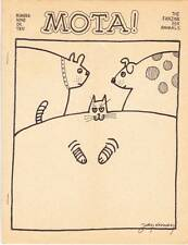 MOTA #9 - 1975 science fiction fanzine - Jay Kinney cover, Dan Steffan
