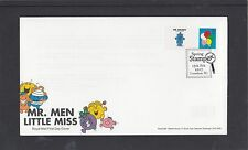 GB 2017  STAMPEX Mr Men Smiler stamp + Mr Grumpy on tab FDC STAMPEX spec pmk