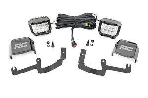 """Rough Country Chevy 3"""" LED Windshield Kit Wide Angle Osfor RAM 19-20 Silverado"""