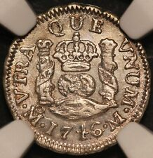 1746-Mo M Mexico 1/2 Real Silver Coin - NGC MS 62 - KM# 66