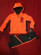 Nike Boys Therma Dri-Fit 2 Piece Tracksuit Zip Up Hoodie & Jogger Pants Sz 24 Mo