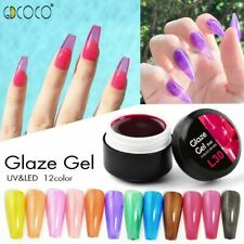 Gel Nail UV Polish Varnish Soak Off LED Crystal Glaze Glass Lacquer Translucent