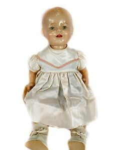 """Vintage EIH Horsman 1920's Baby Dimples Composition 18"""" Doll W/ Working Eyes"""