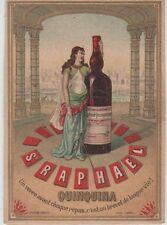 """""""ST-RAPHAËL QUINQUINA"""" Etiquette-chromo originale fin 1800"""