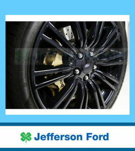 "Genuine Ford 19"" X 9 Set of 2 Black Rear Alloy Wheels FGX with Caps"