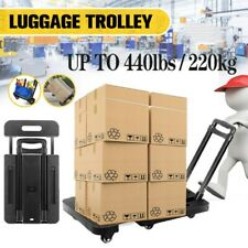 440 Lbs Heavy Duty Hand Truck Dolly Folding Platform Cart Trolley With 6 Wheels