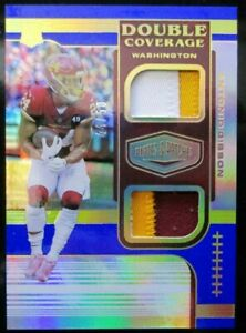 Antonio Gibson 2020 Panini Plates & Patches Double Coverage Patch /50