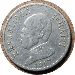 elf Haiti 20 Cent 1907 President  Waterbury Mint    010