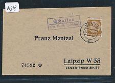 00328) Landpost Ra2 Schalkau über Kanth (Schlesien) DS 1938