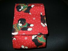 """Dog Puppy Belly Band Wrap Contoured Diapers Male Puppy Flannel lined 21.5"""" XMAS"""