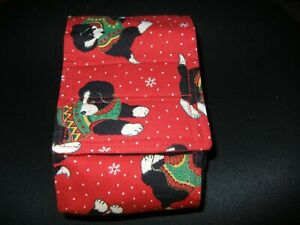 """Dog Puppy Belly Band Wrap Contoured Diapers Male Puppy Flannel lined 14.5"""" XMAS"""