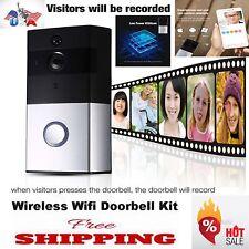 Wireless WiFi Doorbell Kit Video Camera Door Phone Ring Intercom Home Security