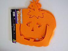 47 Inch Orange Felt Pumpkin Halloween Fall Autumn Table Runner Decoration