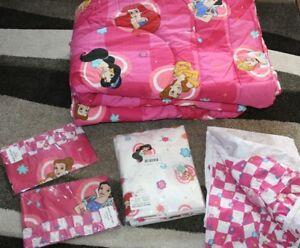 Disney Store 6 Princess 8 Pc. Full Bedding Set; Aurora, Jasmine, Ariel, Belle +