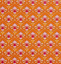 Gutermann French Cottage Fabric.Orange & Pink Floral.100% Cotton.Per Fat Quarter