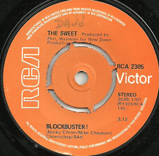 THE SWEET - BLOCKBUSTER! / NEED A LOT OF LOVIN' 4pKO ORIGINAL 70s GLAM ROCK POP