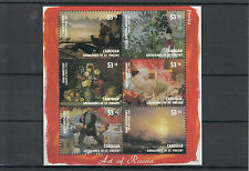 Canouan Grenadines St Vincent 2014 MNH Art of Russia Rossica 6v M/S Vasily Perov