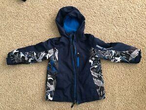 ZeroXposur Witer Jacket Youth size 7 Blue Camo Hooded Jacket