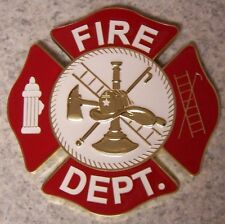 Military Plaque Fire Department NEW wall or shadow box mount