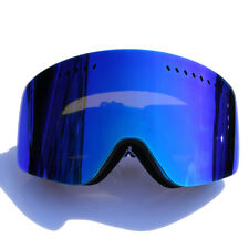Snow SKI Goggles Anti-Fog Double lens UV 400 Blue Frameless