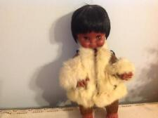 Vintage Beautiful Eskimo Native American Girl Doll ; Sleepy eyes